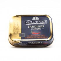 Sardines à l'huile d'olive piment et aromates